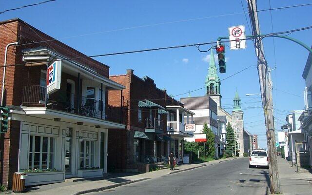 Le centre-ville de Saint-Jean-sur-Richelieu, au Québec, le 11 juin 2007. (Crédit : I,Pregup / CC BY-SA 3.0)