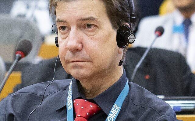 Martin Buschmann, homme politique allemand et député européen en 2019. (Crédit : Wikimedia Commons)
