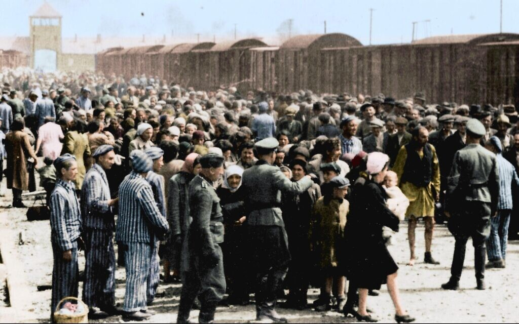 "Image extraite de ""Auschwitz Untold in Color"". (Serge Klarsfeld/ Lily Jacob-Zelmanovic Meier)"