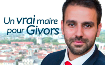 L'affiche de campagne d'Antoine Melliès, candidat RN aux élections municipales à Givros. (Crédit : Antoine Melliès / Twitter)