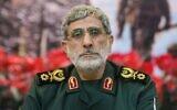 Esmaïl Qaani, nouveau chef de la force Al-Qods après la mort de son commandant Qassem Soleimani dans un raid américain sur l'aéroport de Bagdad le 2 janvier 2020. (Crédit : Twitter / Mahdi Bakhtiari)