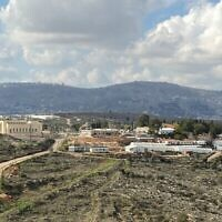 L'implantation d'Itamar, le 30 janvier 2020 (Crédit : Jacob Magid/Times of Israel)