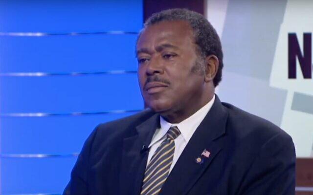 Capture d'écran d'un responsable de la NAACP, James Harris,  (Crédit : YouTube)