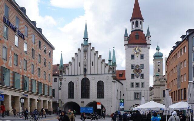 L'hôtel de ville de Munich. (Crédit : Wikipedia/Pierre André/CC BY-SA)