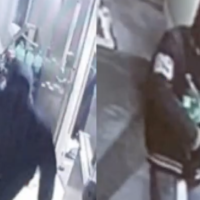 Deux suspects impliqués dans une tentative de vol à main armée dans une synagogue de Baltimore le 26 janvier 2020. (Capture d'écran)