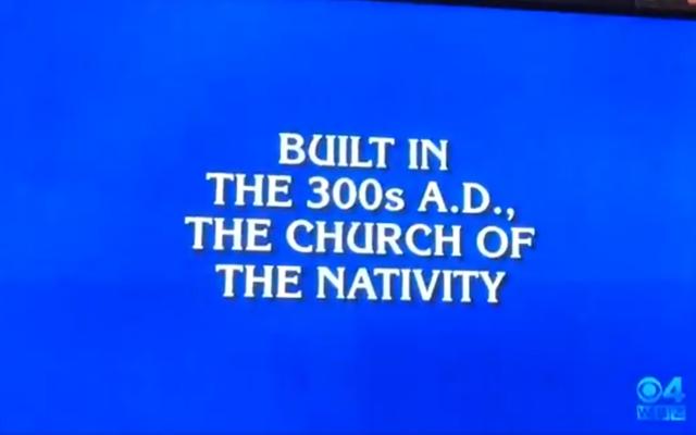 """Une question posée dans une émission américaine, """"Jeopardy"""", le 20 janvier 2020 (Capture d'écran :  Twitter)"""