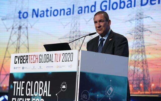 Le président d'Israel Electric Corp, Yiftah Ron-Tal, à la conférence Cybertech 2020, le 29 janvier. (Autorisation)