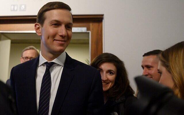 Le haut conseiller à la Maison Blanche Jared Kushner est présent au Forum économique mondial à Davos, le 21 janvier 2020. (Photo par JIM WATSON / AFP)