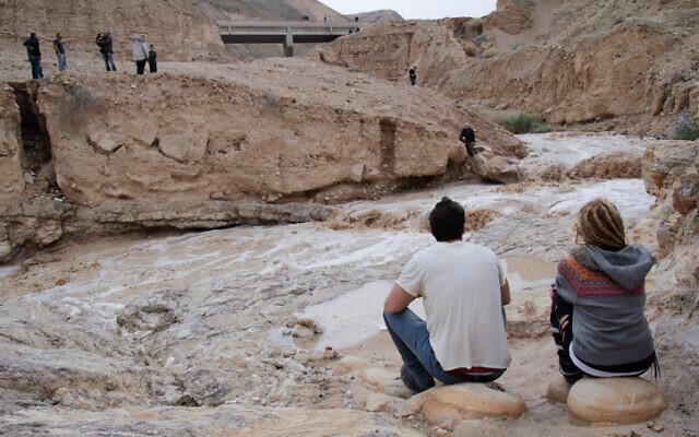 Photo de Wadi Og, un ruisseau qui coule à proximité de Jérusalem jusqu'à la mer Morte, le 26 novembre 2014. (Maxim Dinshtein/Flash90)
