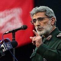 Le chef de la force Al-Qods Esmail Ghaani. (Autorisation)
