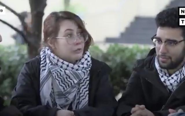 Becca Lewis, de l'université George Washington, dans une vidéo du groupe progressiste américain NowThis publiée en janvier 2020. (Crédit : NowThis/Twitter via JTA)