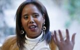 La première femme juive israélienne d'origine éthiopienne à être élue à la Knesset Pnina Tamano Shata, dans la ville côtière de Hadera. (Crédit : JACK GUEZ / AFP)