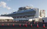 Le bateau de croisière Diamond Princess en quarantaine, amarré au port de Yokohama, près de Tokyo, le 18 février 2020. (Crédit :  Koji Sasahara/AP)