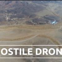 Capture d'écran d'une vidéo de présentation d'un système de défense anti-drone mis au point par Rafael. (Crédit : YouTube)