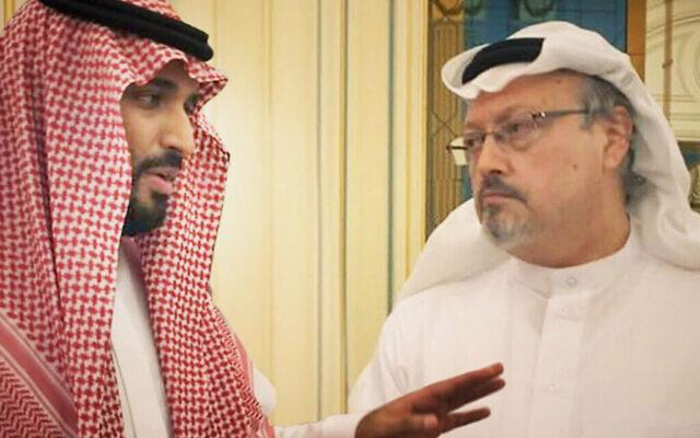 Mohammed ben Salmane, (à gauche), et le journaliste assassiné Jamal Khashoggi. (Orwell Productions)
