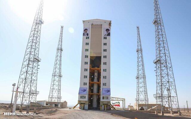 Site de lancement du satellite iranien Zafar. (Crédit : Twitter)