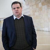 Le chef du parti de la Liste arabe unie, le député Ayman Odeh, à la Cour suprême de Jérusalem, le 5 février 2020. (Yonatan Sindel/Flash90)