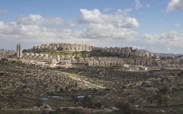 Le quartier de Har Homa à Jérusalem-Est, le 15 février 2017. (AP Photo/Dan Balilty)