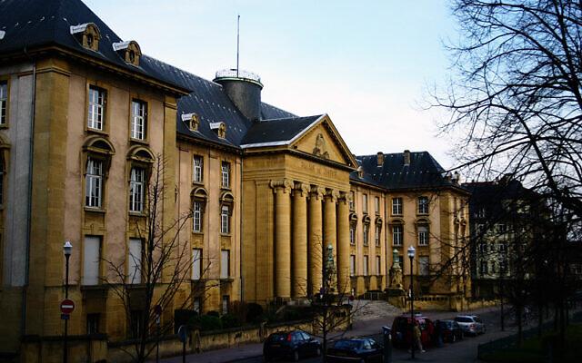 Le Palais de justice de Sarreguemines. (Crédit : Novi / GNU Free Documentation License / Wikimedia)