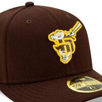 Le logo de la nouvelle casquette d'entraînement printanière du club des San Diego Padres suscite la controverse. (Crédit : MLBshop.com via JTA)