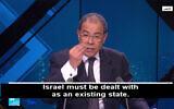 Le professeur franco-marocain  Youssef Chiheb lors d'un entretien avec la chaîne arabophone du réseau France 24, le 12 février 2020 (Capture d'écran : YouTube)