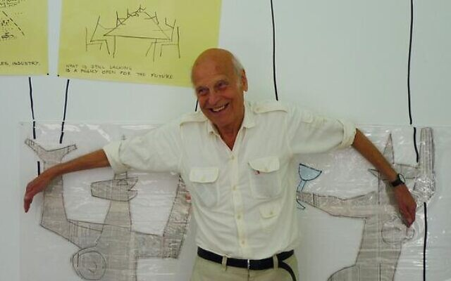 L'architecteetsociologue franco-hongrois Yona Friedman. (Crédit : Galerie Kamel Mennour)