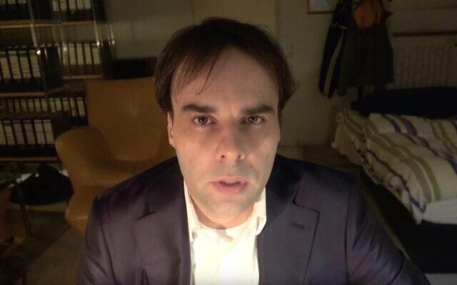 Tobias Rathjen dans une vidéo publiée en ligne quelque jours avant de perpétrer une tuerie mortelle à Hanau, en Allemagne. (Réseaux sociaux)