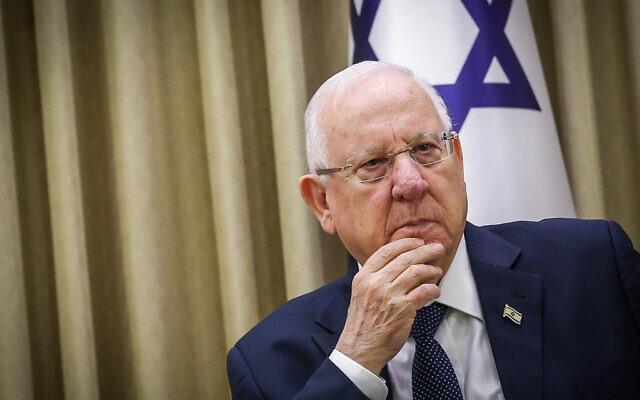 Le président Reuven Rivlin photographié à la résidence du président le 6 janvier 2020 à Jérusalem. (Flash90)