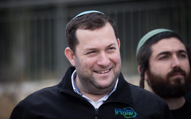 Le responsable du Conseil régional de Samarie Yossi Dagan lors d'une manifestation des responsables d'implantation devant le Bureau du Premier ministre à Jérusalem, le 4 février 2020. (Yonatan Sindel/Flash90)