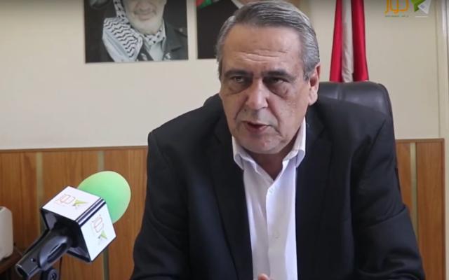 Hamdallah Hamdallah, le maire de la ville palestinienne d'Anataba en Cisjordanie.  (Capture d'écran : YouTube)