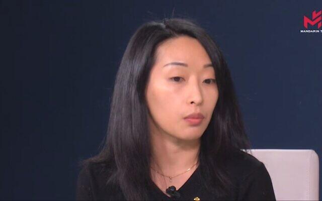 Laetitia Chhiv, présidente de l'Association des jeunes Chinois de France (AJCF). (Capture d'écran YouTube)