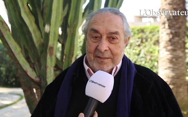 Serge Berdugo, secrétaire général du Conseil de la communauté israélite du Maroc. (Crédit : capture d'écran YouTube / L'Observateur / David Serero)
