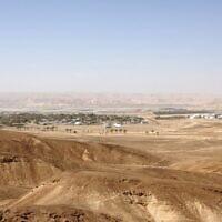 Une vue de Paran (Crédit : Shmuel Bar-Am)