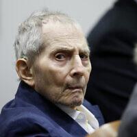 L'héritier de l'immobilier Robert Durst lors de son procès pour meurtre à l'Airport Branch Courthouse de Los Angeles le 4 mars 2020. (Crédit : Etienne Laurent/EPA via AP, Pool)