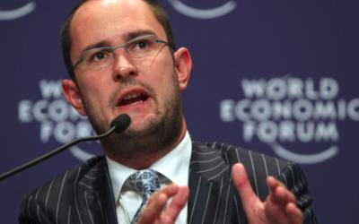 Vincent Van Quickenborne, au Forum économique mondial de Dalian, en Chine, en 2009. (Crédit : World Economic Forum/ Natalie Behring / CC BY-SA 2.0)