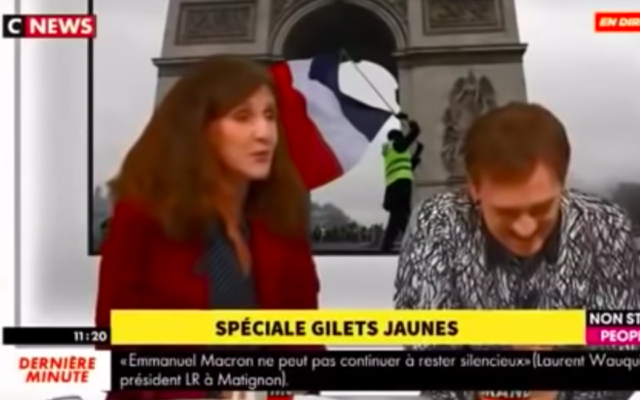 Elise Fajgeles, députée LREM de Paris, sur le plateau de CNews, en décembre 2018. (Crédit: capture d'écran Youtube / CNews)