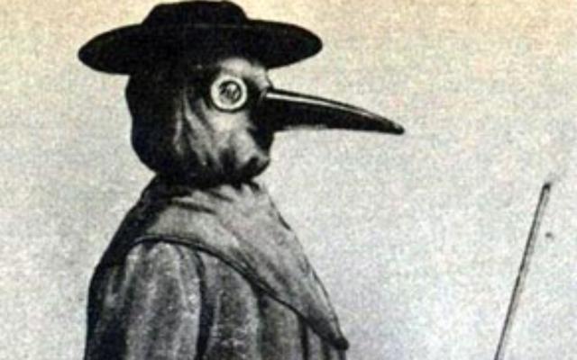 Un médecin soignant la peste,xviie-xviiie siècle. (Domaine public)