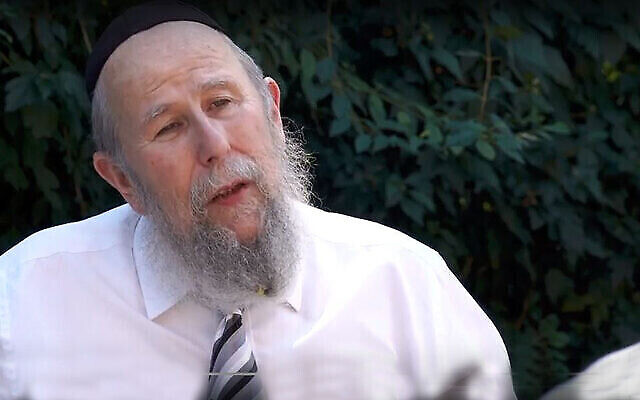 Le rabbin Yehuda Yaakov Refson. (Autorisation : Chabad.org)