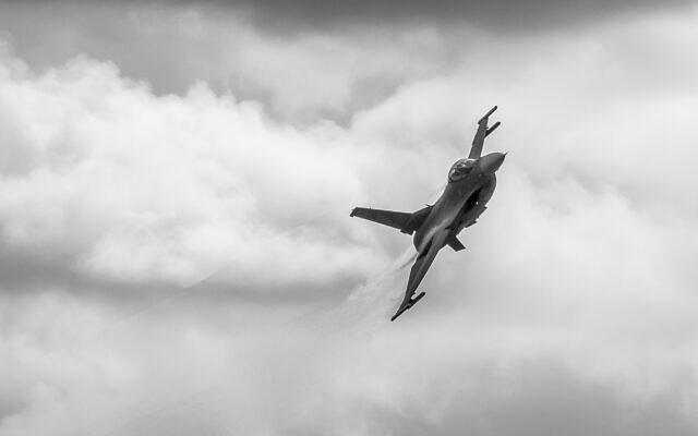 Un F-16 de la Garde nationale américaine lors d'un exercice à Oklahoma, le 26 février 2020. (US Air National Guard / Master Sgt. C.T. Michael)
