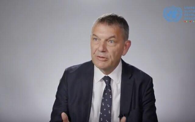 Philippe Lazzarini, coordinateur de l'ONU au Liban. (Capture d'écran)