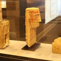 Statuettes yéménites anciennes exposées au Musée des pays de la Bible. (Shmuel Bar-Am)