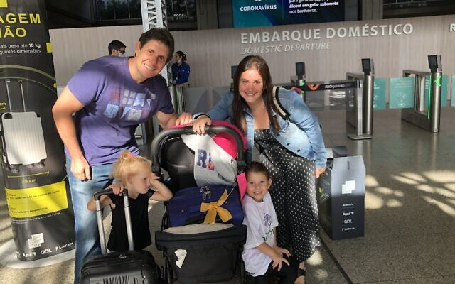 La famille Burdman avant son périple vers Israël. (Famille Burdman via JTA)