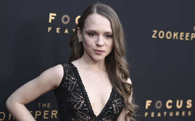 Shira Haas arrive à l'avant-première de 'The Zookeeper's Wife' à l'ArcLight Hollywood de Los Angeles, le 27 mars 2017. (Richard Shotwell / Invision / AP)