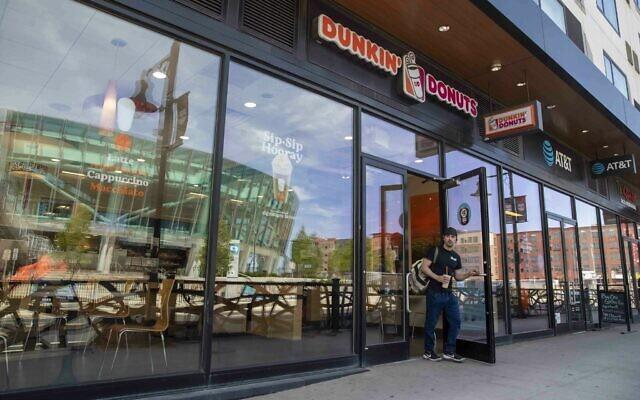 Une boutique Dunkin' Donuts dans le New Jersey. (Crédit : AP Photo/Mary Altaffer)