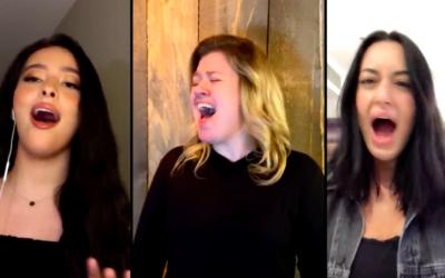 """Capture d'écran de la vidéo de la chanson """"I Dare You"""" de Kelly Clarkson. (Crédit : YouTube)"""