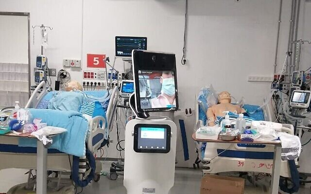 Photo d'illustration : Les lits d'une nouvelle unité de soins pour les cas graves du coronavirus au centre médical Sheba (Autorisation)