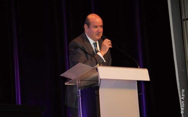 Claude Barouch, président de l'UPJF. (Crédit : UEJF / Twitter / Alain Azria)