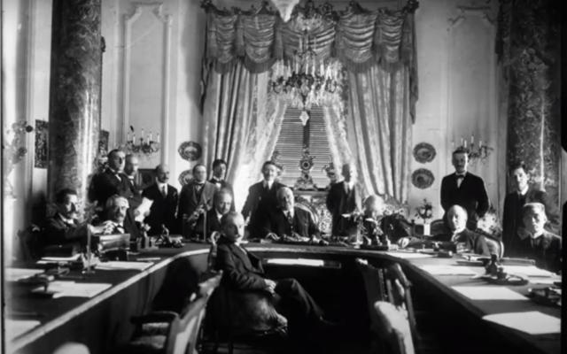 Les délégués à la conférence de San Remo en avril 1920. (Capture d'écran YouTube)