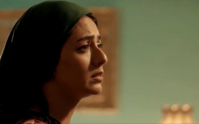 Le personnage d'une femme juive faisant un monologue en hébreu dans une série saoudienne réalisée pour le ramadan,  'Umm Haroun' , consacrée aux Juifs du Koweït et diffusée le 24 avril 2020 sur la chaîne MBC (Capture d'écran : Twitter)
