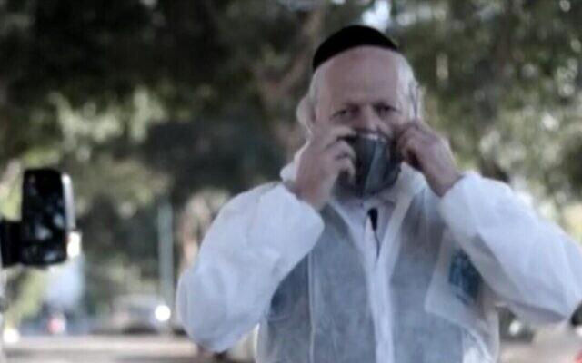 Le président de la ZAKA, I'organisation de réponse d'urgence israélienne, Yehuda Meshi Zahav. (Crédit : ZAKA/Lydia Weitzman Communications)